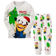 BlcSwan Little Boy Merry Christmas 2 Piece Pajamas Set 100 Cotton 4Y5Y *** Continue to the product at the image link.