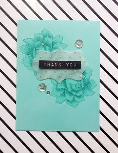 """Hello, I am starting this new week with a set of Thank You cards and a fun technique that I want to share with you. This technique can be included in the """"stretch your supplies"""" list, a…"""
