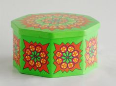 Anita Wangel IRA Denmark octagonal storage tin by Coollect on Etsy, €19.00