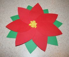 paper poinsettia craft Make after reading The Legend of the Poinsetta