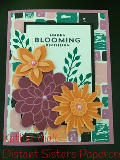 Stampin Up Flower Patch 2016-2018 in colors