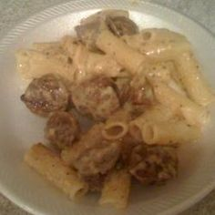 I made this tonight and it was good, (fettuccine Alfredo With Sausage Allrecipes.com) I didn't have Locatella cheese so I substituted with Romano. Hubby had used all the whipping cream so another substitution using milk,butter and corn starch. Very good!
