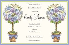 Allium Topiaries Invitations