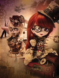 For those who like ball jointed dolls (BJD) - Steampunk style