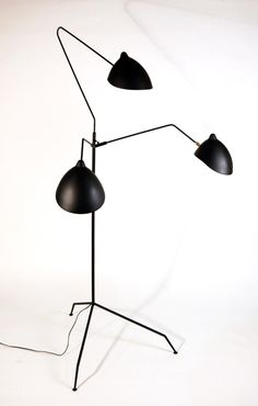 Tripod floor lamp, 1951. Originally produced by Ateliers Serge Mouille, France.