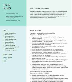 Download Social Media Specialist Resume Pics Cover Letter Template, Letter Templates, Resume Form, Social Media Marketing, Digital Marketing, Unique Resume, Resume Objective, Media Specialist, Social Media Channels