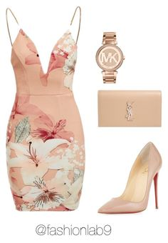 """Untitled #1068"" by alana-andrea-bacchus on Polyvore featuring Michael Kors, Ginger Fizz, Christian Louboutin and Yves Saint Laurent"