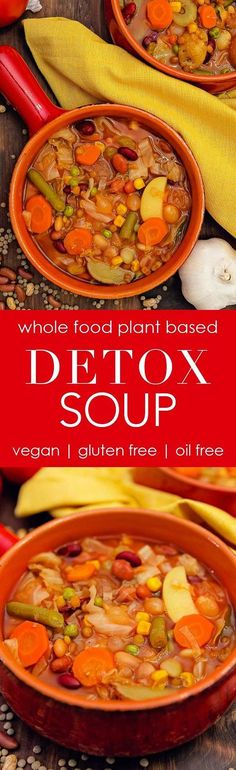 detox soup cabbage veggies vegetables soup recipe vegan vegetarian whole food plant based wfpb gluten free oil free refined sugar free no oil no refined sugar no dairy dinner lunch side appetizer dinner party entertaining simple healthy Vegetable Soup Recipes, Healthy Soup Recipes, Detox Recipes, Plant Based Recipes, Whole Food Recipes, Vegan Recipes, Cooking Recipes, Cabbage Vegetable, Recipes Dinner