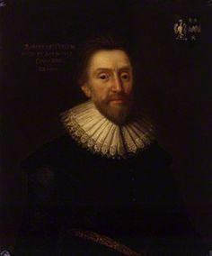 Sir Robert Bruce Cotton, 1st Bt, after Cornelius Johnson (Jonson or Jonson van Ceulen), (1629) - NPG 534 - © National Portrait Gallery, London