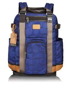 Tumi Alpha Bravo Lejeune Backpack Tote Blue Geo Print