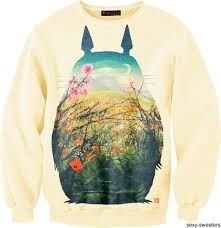 """Another """"My Neighbor Totoro"""" sweater. LOVE THIS! ❤️❤️❤️"""