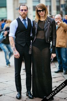 Justin O'shea & Veronika Heilbrunner Fashion Couple, Love Fashion, Justin O'shea, Eccentric Style, Mens Suit Vest, Stylish Couple, Street Style Blog, Effortless Chic, Couple Outfits