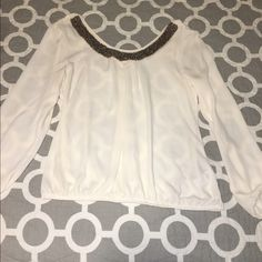 Breathtaking sheer Maurice's dress top Breathtaking sheer Maurice's dress top with beaded neck line. Maurices Tops Blouses