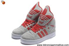 Latest Listing Adidas X Jeremy Scott Big Tongue Shoes Grey Red Basketball Shoes Store