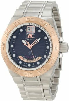 Invicta Men's 10869 Subaqua Blue Sunray Dial Stainless Steel Watch Invicta. $399.99. Flame-fusion crystal; stainless steel case and bracelet. Blue sunray dial with rose gold tone and white hands and hour markers; luminous; unidirectional 18k rose gold ion-plated stainless steel bezel. Day and date function. Swiss Quartz movement. Water-resistant to 100 m (330 feet). Save 80% Off!