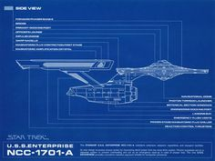 "Star Trek Blueprint Collection: A Portfolio Set of 8 Authorized 11"" x 14"" Detailed Blueprints - Courtesy of the Star Trek LCARS Blueprints dB at Cygnus-X1.Net"