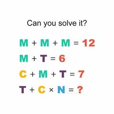 Free online practice of puzzles and riddles problems with solutions for all competitive exams. Math Puzzles Brain Teasers, Brain Teasers For Kids, Maths Puzzles, Logic Math, Math Quizzes, Math Problem Solving, Brain Teaser Questions, Brain Teasers With Answers, Quiz With Answers