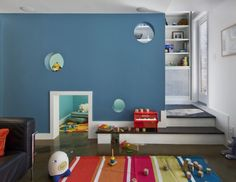 Playroom with a pass-through