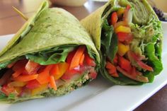 Wraps - cucumber - tomato - sprouts/lettuce - chipotle mayo - mushrooms/peppers - portabello mushrooms/imitation crab/chicken/beef - tortillas