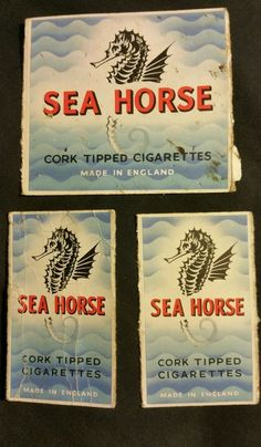 BULK Vintage Sea Horse Cork Tipped Cigarette Tobacco Packet FRONT ONLY England | eBay