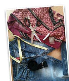 Mädchen.de zeigt dir Schritt für Schritt, wie du aus einer alten Jeans und ein bisschen Stoff eine trendy Jeanstasche selber nähen kannst!