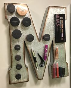 This was my (well my boyfriend's) version of the magnetic makeup board. I didn't…