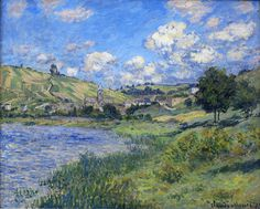 """Landscape Vetheuil,"" by Claude Monet (1879). Breathtaking ethereal blue!"