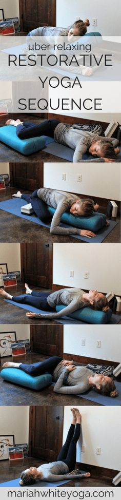 Relaxing Restorative Yoga Sequence #yoga #stressrelief #yogaeverydamnday #YogaTips102