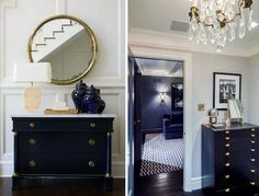Vanguard Furniture Co I have always been smitten with navy blue furnishings - especially sideboards and dressers. I find myself pi...