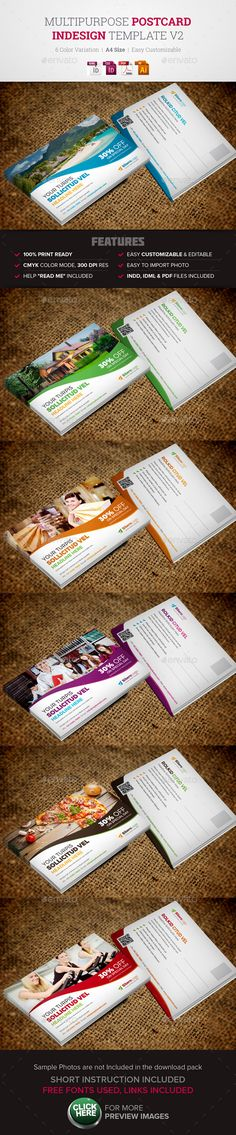 "Buy Postcard Design Template by Jbn-Comilla on GraphicRiver. Postcard Design Template Creative, Clean and Modern MultiUsed Postcard InDesign Template, ready to use for ""Real E. Brochure Design, Flyer Design, Branding Design, Postcard Template, Postcard Design, Indesign Templates, Print Templates, Business Postcards, Page Layout Design"