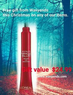Hello Beautiful!  FREE GIFTS FROM WAVYENDS THIS CHRISTMAS FOR EVERY SHOPPER ON ANY ITEM. Merry Christmas!  Gift 1) Revitalift Miracle Blur Instant Eye Smoother Gift 2 )Revitalift Miracle Blur Instant Skin Smoother Finishing Cream Gift 3 ) 2 oil free  Gift Value $36.99 $24.99 $24.99 Giving back to our shoppers in a must! #http://www.jennisonbeautysupply.com/  ,#hairinspo #longhair #hairextensions #clipinhairextensions #humanhair #hairideas #hairstyles #extensions #prettyhair…