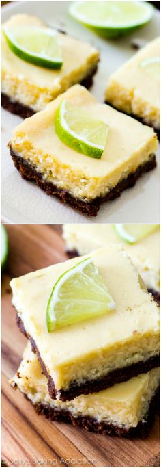 6 ingredient Key Lime Pie Squares - you will fall in love with these zesty, easy-to-make bars!