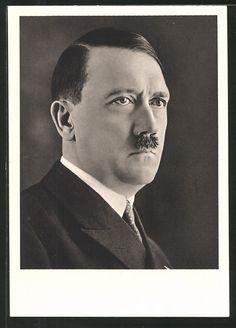 old postcard: AK Führer Adolf Hitler im Anzug