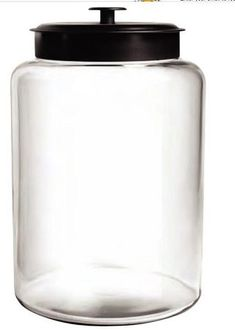 With this handy 2 Gallon Montana Glass Jar with lid the uses will be endless. Whether you use as part of a candy display or just to hold smaller objects. Large Glass Containers, Gallon Glass Jars, Glass Storage Jars, Glass Jars With Lids, Candy Containers, Candy Jars, Jar Storage, Glass Canisters, Metal Dog Kennel