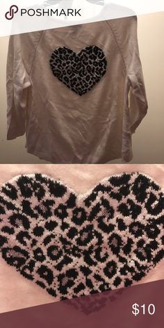 Cheetah Heart Sweater Comfy sweater with a heart in cheetah print design with glitter! Style & Co Sweaters Crew & Scoop Necks