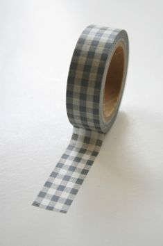 Washi Tape - Grey Gingham Pattern