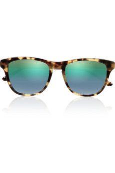 Stella McCartney Square-frame tortoiseshell-print acetate sunglasses   NET-A-PORTER