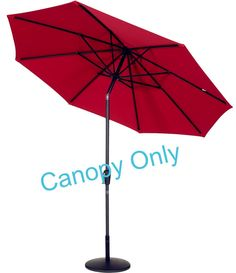 Tokept Replacement Umbrella Canopy For 9ft 8 Ribs Red Only Canopy * Check  Out The Image
