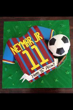 Neymar Jr Barcelona Soccer cake