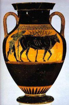 ánfora: guardar aceites cenizas, vino CERÁMICA GRIEGA periodo clásico