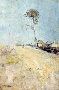 ufansius: 1889 Arthur Streeton (Australian; 1867-1943) ~ Summer Heat [ A Road to the Ranges]