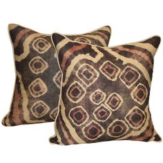 Pair of Vintage Kuba Cloth Pillows | From a unique collection of antique and modern pillows and throws at http://www.1stdibs.com/furniture/more-furniture-collectibles/pillows-throws/