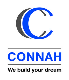 Connah Construction logo design – graphic design – Designed By Tree