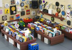 a vinyl record store done in LEGOs - two favorite memories combined into one :)