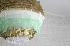 Awesome #DIY Fringe paper lantern's are so much fun for #wedding decor! Maybe make into a pinata!