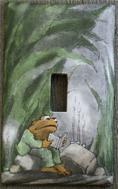 Frog and Toad Upcycled / Recycled Light Switch Plate