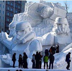 Star Wars snow sculpture in Japan, 2/15 (LP)