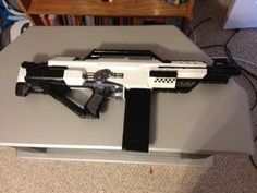 Newest Nerf Gun mod/repaint. Based on an Arctic N7 redo I saw from Johnson Arms.