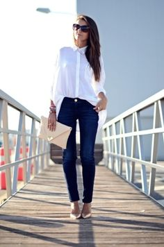 classic white button down shirts