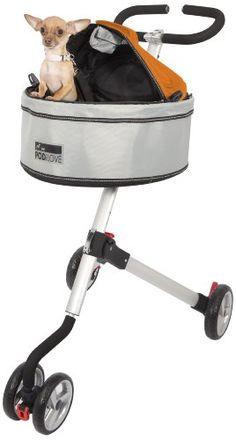 Petego Quadro Pet Stroller with Pod I Love Pet Carrier, Grey/Orange - http://www.thepuppy.org/petego-quadro-pet-stroller-with-pod-i-love-pet-carrier-greyorange/